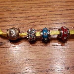 Set of 4 Bead Charms for Brighton Charm Bracelets